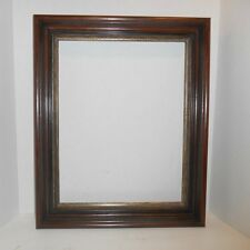 Antique Picture Frame Walnut Shadowbox Style Gold Silver Gilt Large Size