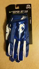 NIKE VAPOR JET 3.0 MAGNIGRIP FOOTBALL GLOVES BLUE WHITE L LARGE