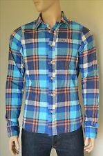 NEW Hollister By Abercrombie & Fitch Huntington Beach Flannel Shirt Turquoise XL