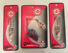 OXBORO MONTREAL ALOUETTES SPINNER BAIT AND SPOONS CFL COLLECTIBLE FISHING LURES