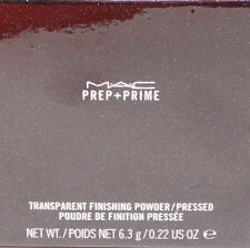 MAC*** PREP+PRIME TRANSPARENT FINISHING PRESSED POWDER   BOXED