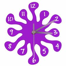 Euphyllia-Splash Mini Childrens Wall Clock 20cm Purple (e9557pur)