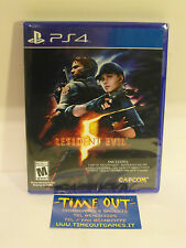 RESIDENT EVIL 5 HD SONY PS4 NUOVO NEW MULTILANGUAGE ITA REGION FREE