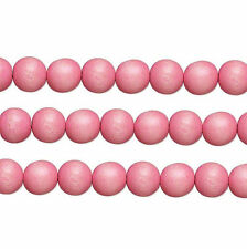 Wood Round Beads Light Pink 6mm 16 Inch Strand