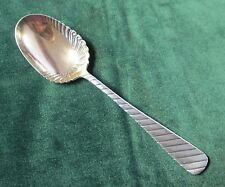 Handsome Antique Silver Serving Spoon DUNDEE Rogers 1886 Gold Washed Bowl