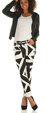 New $218 J BRAND 620 B&W BLACK WHITE PRINT MIDRISE STRETCH SUPER SKINNY JEANS 28