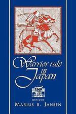 Warrior Rule in Japan by Marius B. Jansen (1995, Paperback)