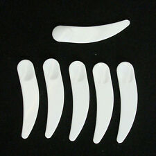 20x Plastic Cosmetic Disposable Curved Cosmetic Mask Spatulas Scoop Spoon Great