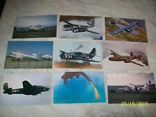 18 DIFFERENT POSTCARD LOT WWII ERA MILITARY PLANES