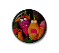 Zig and Zag Button Badge - 2.5cm 1 inch Big Breakfast 1990s Fancy Dress Neon NEW
