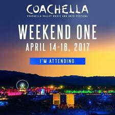 Coachella Weekend 1 April 14-16, 2017 - (2 GA passes)