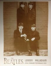 "Beatles London Palladium Poster Print 1963 - 11""x14"" Sepia"