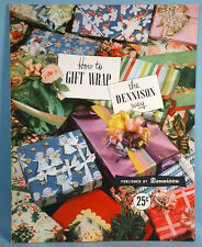 1950 Dennison How to Gift Wrap Magazine Holiday Decorations Christmas Easter