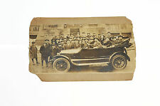 Vintage Photograph of Early Car, possibly a Ford 1916 Touring Model and Crowd