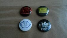 SET OF FOUR INDIE BUTTON BADGES - KAISER CHIEFS / NICKLEBACK /BLOC PARTY /DYLANS