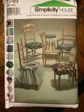 (NEW) SIMPLICITY HOUSE PATTERN #7749 DESIGN YOUR OWN CHAIR PADS & PLACEMATS