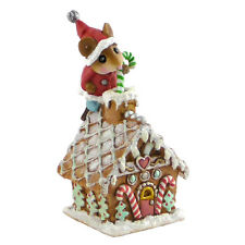 "WEE SANTA""S GINGERBREAD HOUSE by Wee Forest Folk, WFF# TM-4 Christmas Mouse"