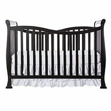 Dream On Me Violet 7 in 1 TODDLER BED, Convertible Life Style CRIB, (Black)