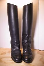 "Mens "" Cavallo "" black Leather Equestrian Riding Boots sz 10 1/2 USA"