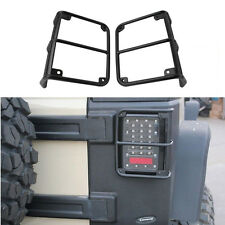 US Black Metal Tail Light Lamp Guard Cover Protector For Jeep Wrangler JK 07-17