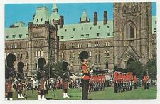 Old Colour Postcard, Changing of the Guards, Ottowa, Ontario, Canada 1964