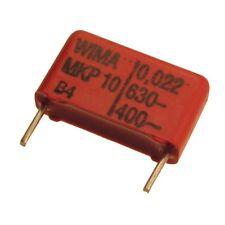 10 WIMA impulso fissa in polipropilene CONDENSATORE mkp10 630v 0,022uf 15mm 089732