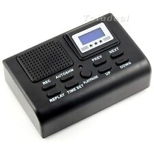 Mini Digital Telephone Call LCD Display SD Card Slot Phone Voice Recorder Black