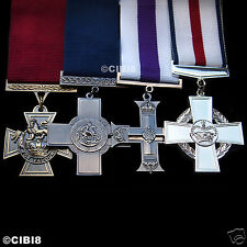 HIGHEST BRITISH MILITARY CROSS ARMY MEDAL GROUP SET FOR GALLANTRY UK ARMY REPRO