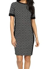 NWT MSRP $130 - MICHAEL KORS Champlin Sheath Dress, Black White, Size XS