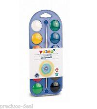 Bambini Primo 12 colore 30mm diamete Acquerello per Pittura Disegno Colorare