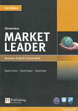 MARKET LEADER ELEMENTARY 3rd Edition Business English Course Book w DVD-ROM @NEW