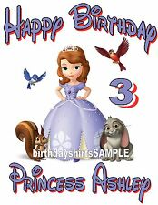 NEW PERSONALIZED DISNEY PRINCESS SOFIA SOPHIA BIRTHDAY T SHIRT ADD NAME AND AGE