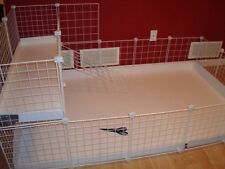 "Guinea Pig Cage Extra x10 - 14"" wire panels + x12 Connectors White"
