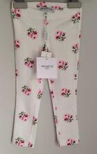 SIMONETTA Designer Rose Print Leggings Nuovo con Etichetta Taglia 2-3 anni le piccole 18-24 mesi