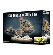 Warhammer 40k Space Wolves Logan Grimnar on Stormrider NIB