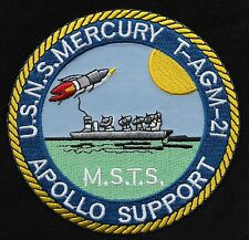 T-AGM 21 USNS MERCURY APOLLO SUPPORT SHIP MSTS MILITARY PATCH