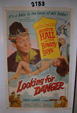 Looking for Danger Vintage Original 1sh Movie Poster 1957 The Bowery Boys