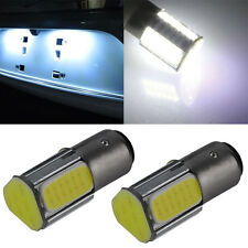2Pcs White 1157 BAY15D 4 COB LED Brake Turn Signal Rear Light Car Bulb Lamp 5Y