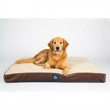 Orthopedic Dog Bed Pet Comfort Sleep Nap Serta Pillowtop Brown Large, 27X36X4""
