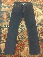 new double rl RRL slim fit jeans once wash american woven dark blue sz 32x32
