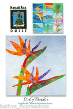 BIRD PARADISE Quilt Pattern Tropical Flowers Calls For Needle Turn Hand Applique