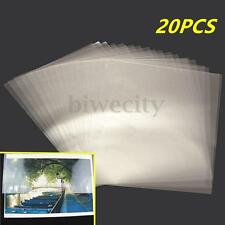 "20Pcs A4 8 ""x12"" Transparent Double-sided Adhesive Tape Sheets DIY Craft"