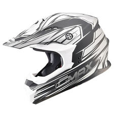 GMAX GM86 PLAYER MOTOCROSS FLAT BLACK SILVER HELMET MX ATV DOT LIGHTWEIGHT MATTE