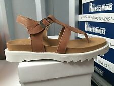 Ladies Brown Leather Sandals Size 5
