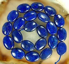 "13x18mm Natural Egyptian Lapis Lazuli Gemstone Oval loose Beads 15""AAA"