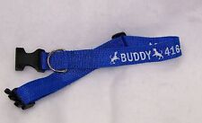 Small ID Dog Collar, Personalized, name and phone number, Unisex, Adjustable, S