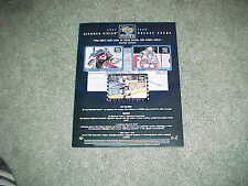 1997 Upper Deck Diamond Vision Hockey Card Ad Sheet Wayne Gretzky Patrick Roy
