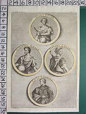C1780 géorgiens print ~ caius caligula julius césar auguste tiberius