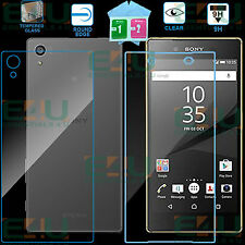 Front + Back 9H Clear Tempered Glass Screen Protector For Sony Xperia Z5