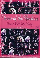 VOICE OF THE BEEHIVE don't call me baby live Manchester Birmingham 2003 DVD NEU